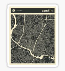 Austin Texas Map Sticker