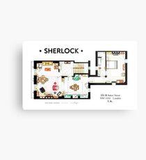 Floorplan of Sherlock Holmes apartment from BBCs Metal Print