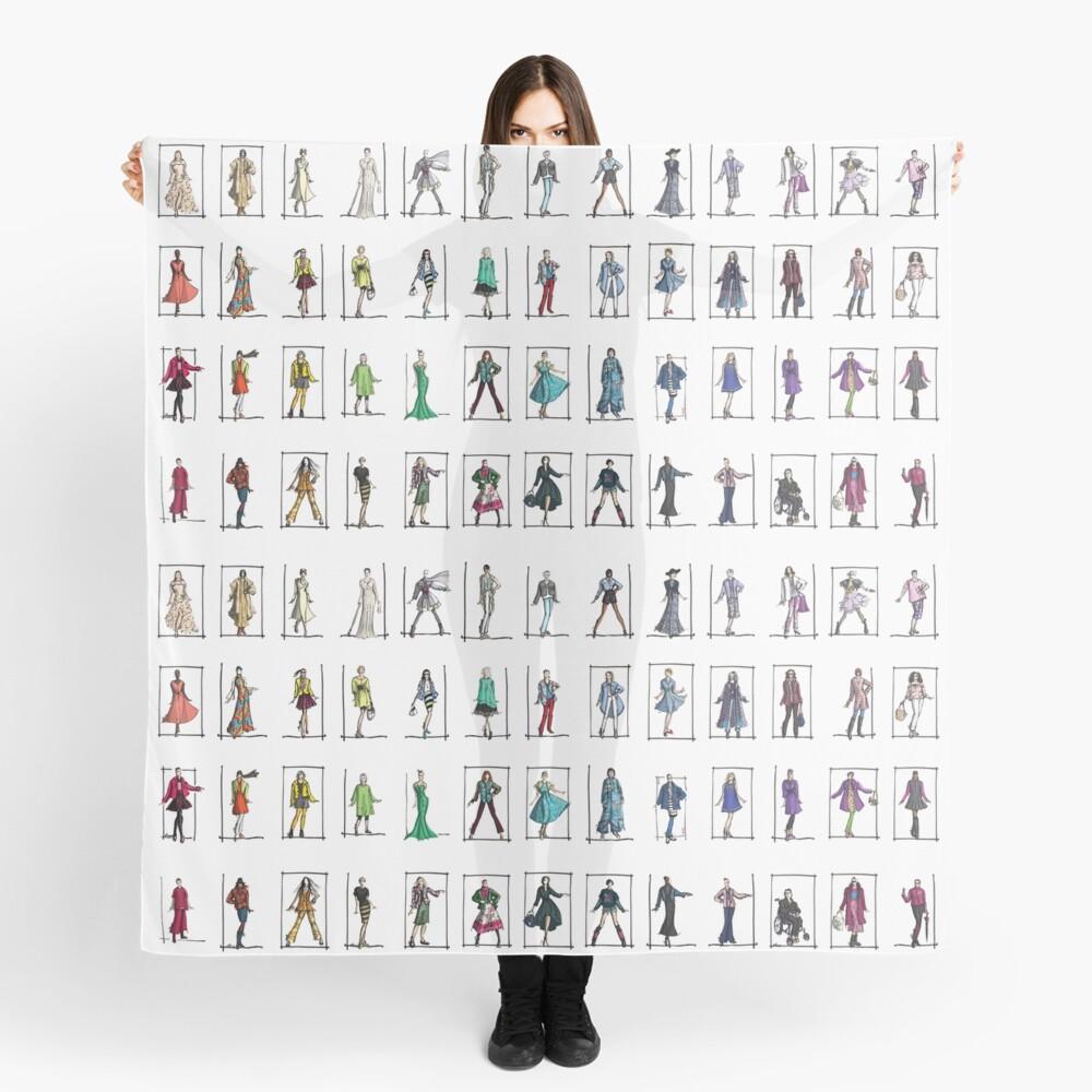 Fashion Rainbow -- 52 Over-40 Bloggers Scarf