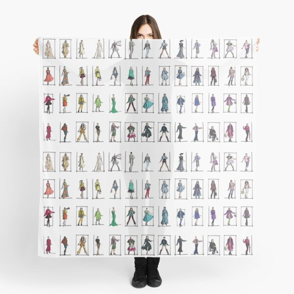 Fashion Rainbow -- 52 Over-40 Bloggers Scarf