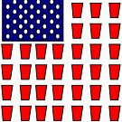 US Flag Beer Pong Drinking Game by tommytidalwave