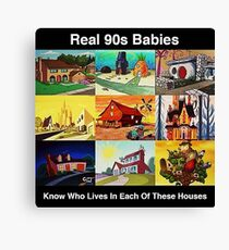 Real 90s babies Canvas Print