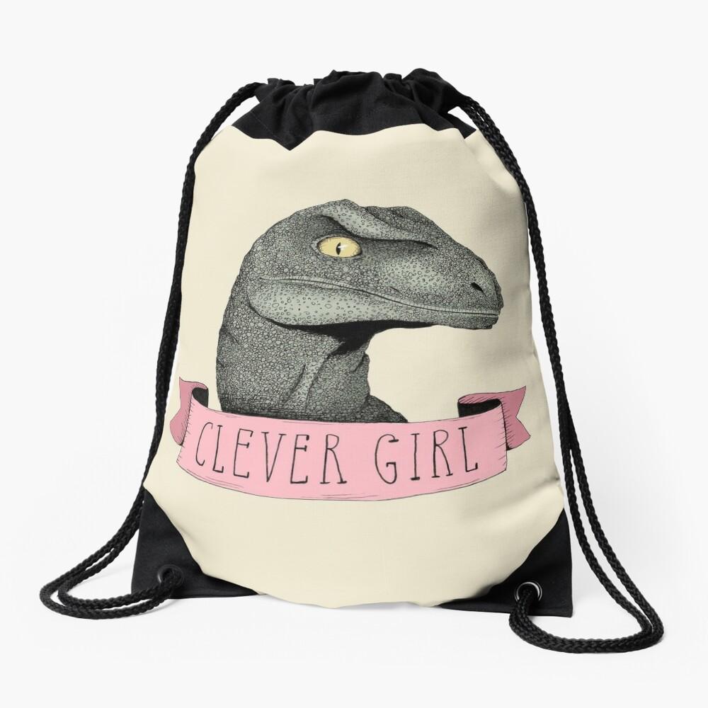 Clever Girl Drawstring Bag