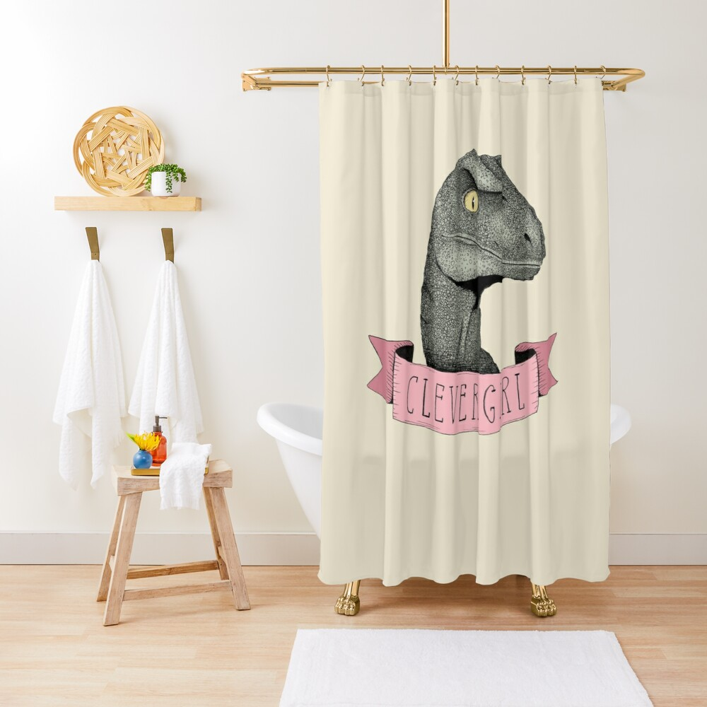 Clever Girl Shower Curtain