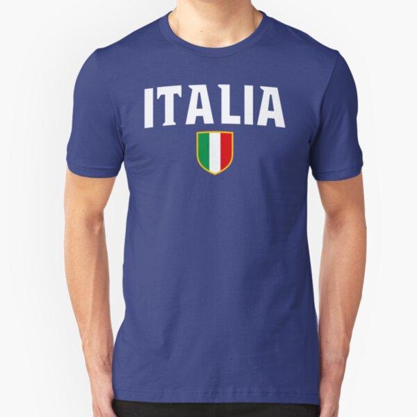 Italia Flag Emblem Slim Fit T-Shirt