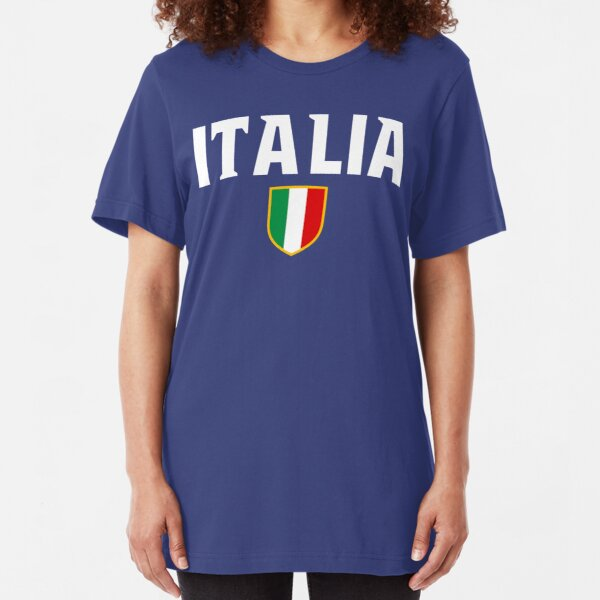 Italia Flag Emblem Slim Fit T-Shirt