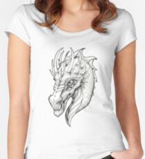 Smirking Dragon Women's Fitted Scoop T-Shirt