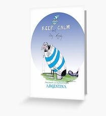 Argentina put the boot in, tony fernandes Greeting Card