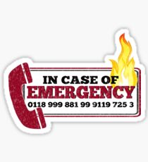 It Crowd Inspired - New Emergency Number - 0118 999 881 99 9119 725 3 - Moss and the Fire Sticker