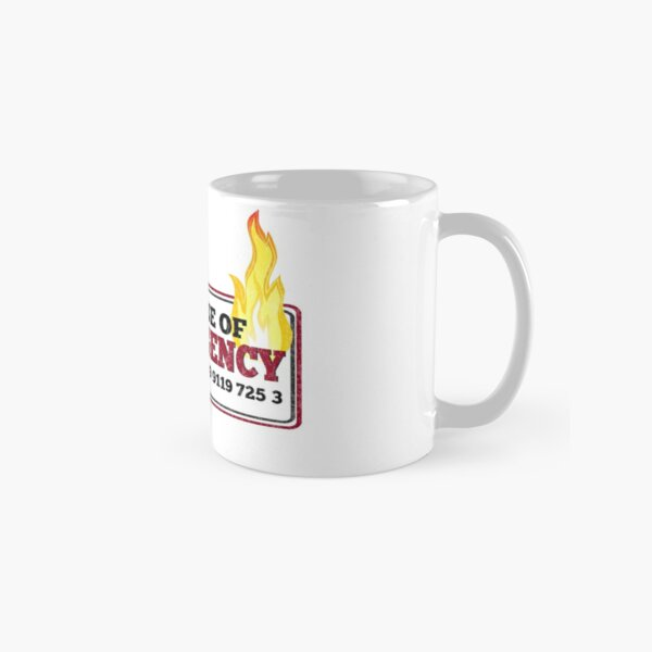 It Crowd Inspired - New Emergency Number - 0118 999 881 99 9119 725 3 - Moss and the Fire Classic Mug