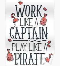 Play Like a Pirate Poster