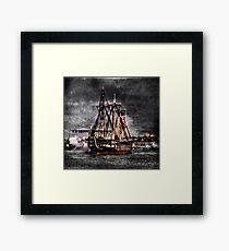 World's oldest commissioned warship afloat - USS CONSTITUTION Framed Print