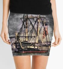 World's oldest commissioned warship afloat - USS CONSTITUTION Mini Skirt