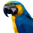 Lowpoly Blue & Yellow Macaw by Mariewsart