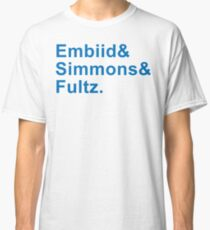 EMBIID SIMMONS FULTZ - The Process - Sixers Blue Classic T-Shirt