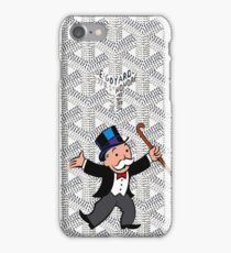 mr monopoly on white goyard iPhone Case/Skin