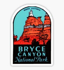 Bryce Canyon National Park - Queen Victoria - Vintage Travel Decal Sticker