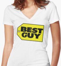Best Guy - Best Buy Spoof Logo Women's Fitted V-Neck T-Shirt