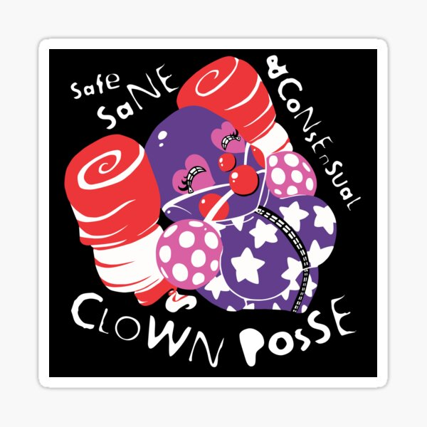 Safe Sane Consensual Clown Posse Classic Sticker