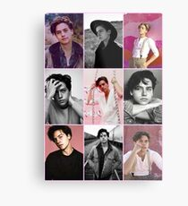 cole sprouse pink aesthetic collage  Metal Print