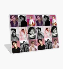 cole sprouse pink aesthetic collage  Laptop Skin