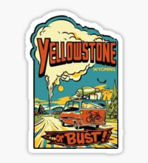 Yellowstone Or Bust... Vintage Travel Decal Sticker