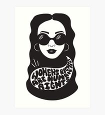Women's rights are human rights Art Print
