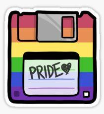Pride Floppy Disk Sticker