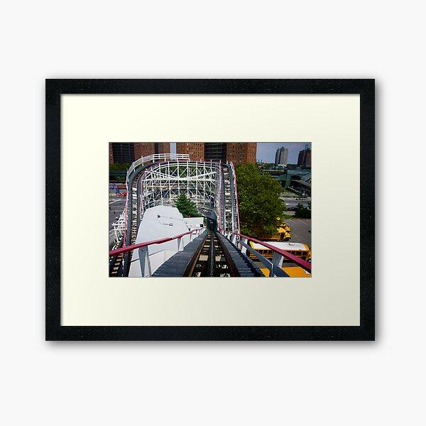 Ride the Coney Island Cyclone Framed Art Print