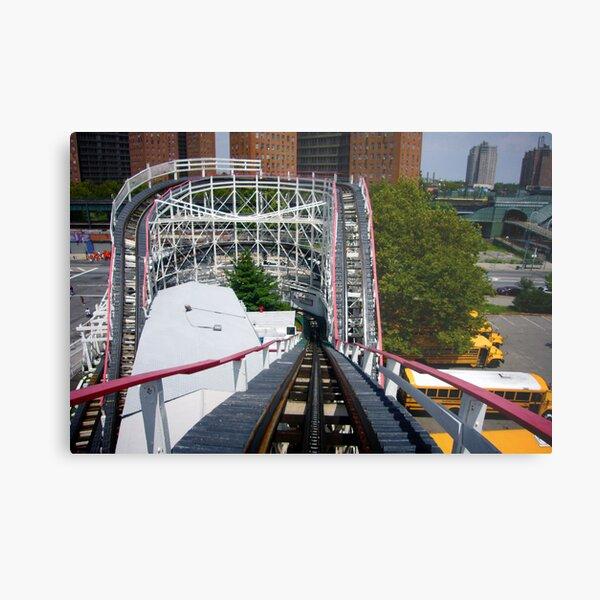 Ride the Coney Island Cyclone Metal Print