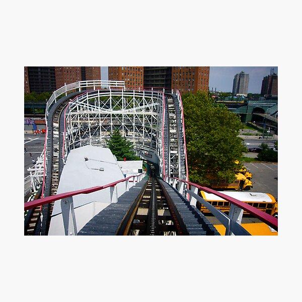 Ride the Coney Island Cyclone Photographic Print