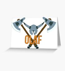 Olaf Greeting Card