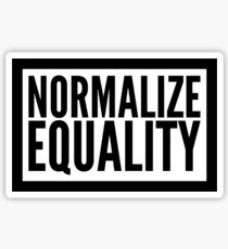 normalize equality Sticker