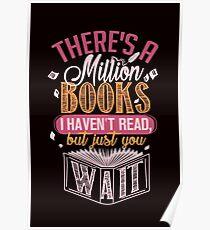 Million Books. Bookaholic Tee. Poster