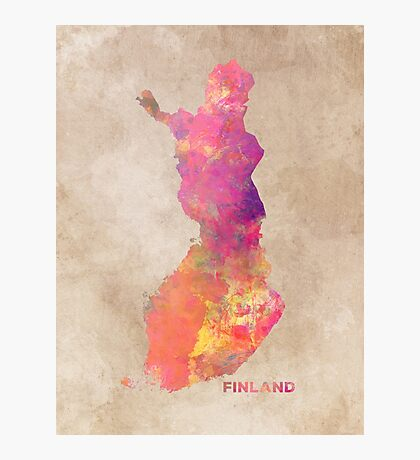 Finland map #finland #map  Photographic Print