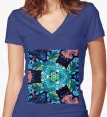 Fantastic pattern. Women's Fitted V-Neck T-Shirt