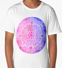 pink blue mandala Long T-Shirt