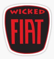 Wicked Fiat Sticker