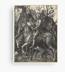 Albrecht Dürer or Durer Knight, Death and Devil Canvas Print