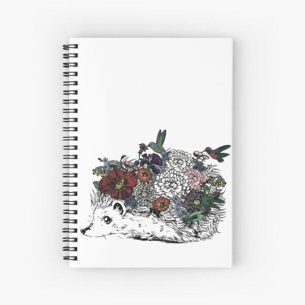 Hedgehog Flower Child Spiral Notebook