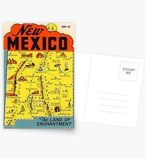 New Mexico Vintage Travel Decal - Land of Enchantment Postcards