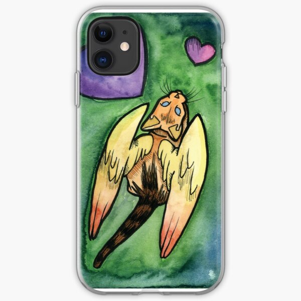 Heart Cat Wings iPhone Soft Case
