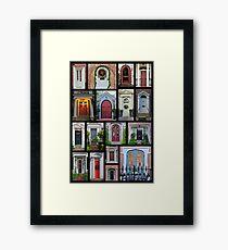 Doors of Charleston Framed Print