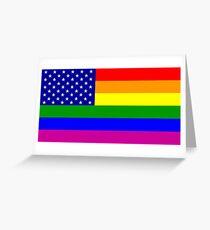 Gay American Flag Greeting Card