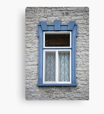Old Light blue Window Canvas Print
