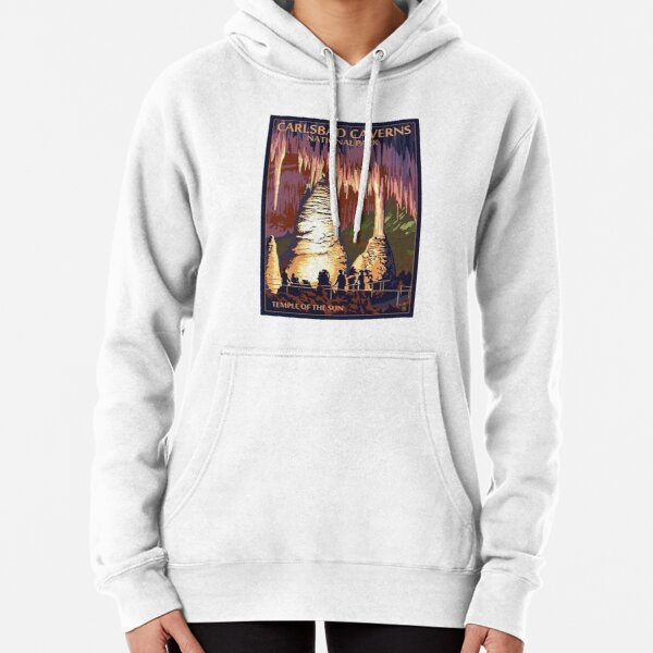 Carlsbad Caverns Temple of the Sun Vintage Travel Decal Pullover Hoodie