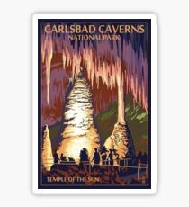 Carlsbad Caverns Temple of the Sun Vintage Travel Decal Sticker