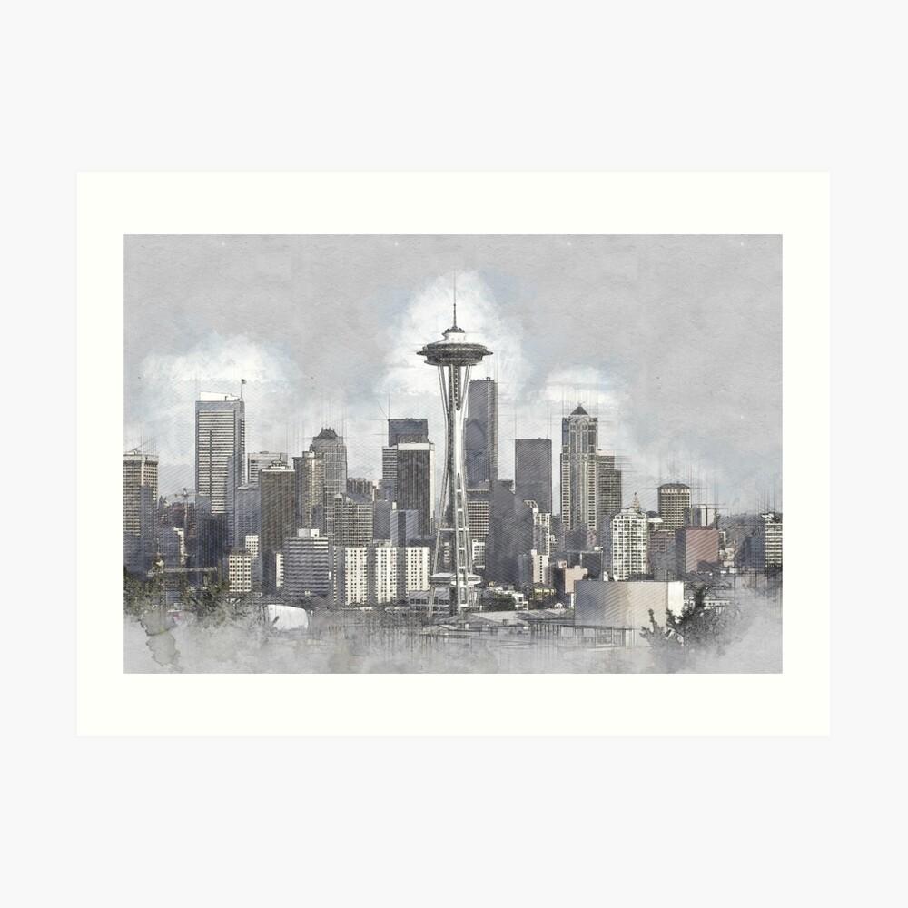 Seattle Kunstdruck