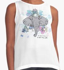 Elephant Ink & Watercolor Illustration Contrast Tank