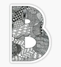 Zentangle B Sticker